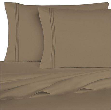 New Homecrest 1800 series Queen Size 6 pc Sheet Set Sage Green