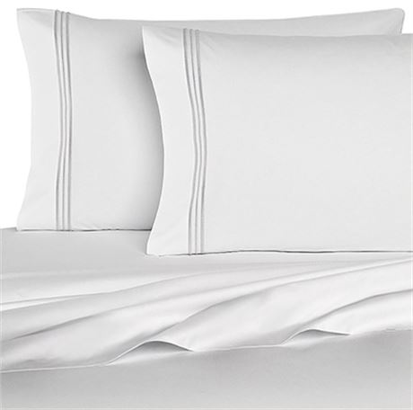New Homecrest 1800 series Queen Size 6 pc Sheet Set White