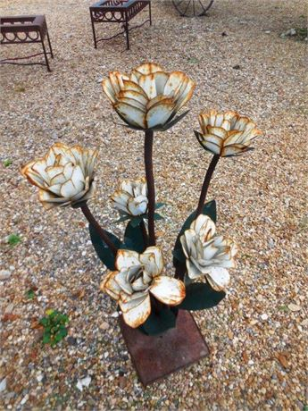 Hand Welded Metal Flowers