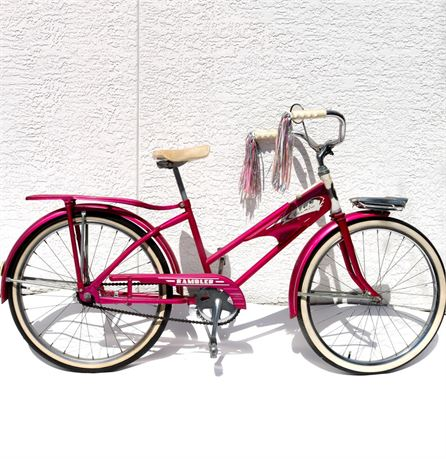 1960s Hot Pink Columbia Rambler Bike