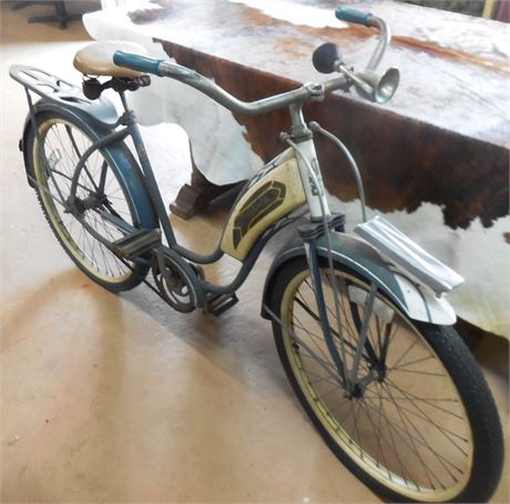1950s Gray and Tan Roadmaster Cruiser Bike
