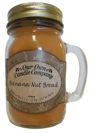 Banana Nut Bread 2-Pack Scented Soy Blend 13oz Candles in Mason Jars