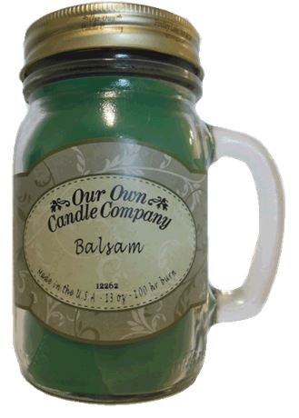 Balsam Pine 2-Pack Scented Soy Blend 13oz Candles in Mason Jars