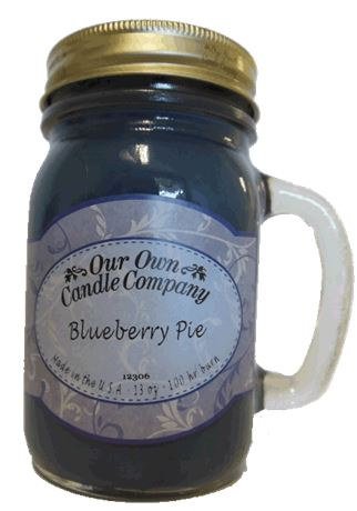Blueberry Pie 2-Pack Scented Soy Blend 13oz Candles in Mason Jars