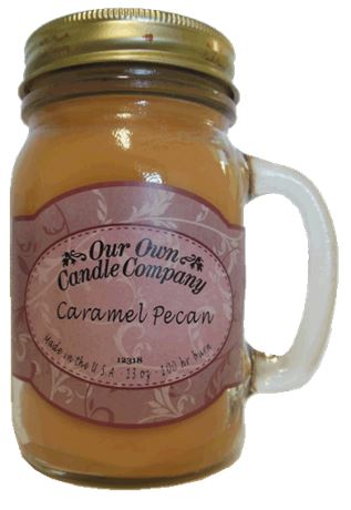 Caramel Pecan2-Pack Scented Soy Blend 13oz Candles in Mason Jars