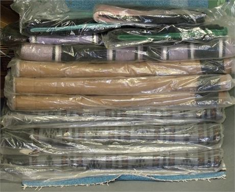 LOT OF ELEVEN NEW WEAVER LEATHER SADDLE PADS AND BLANKETS
