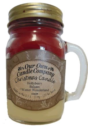 Christmas Triple 2-Pack Scented Soy Blend 13oz Candles in Mason Jars