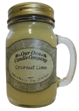 Coconut Lime 2-Pack Scented Soy Blend 13oz Candles in Mason Jars