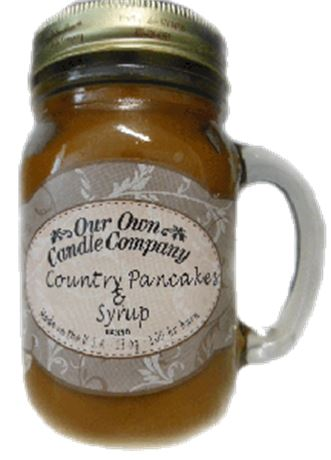 Country Pancake 2-Pack Scented Soy Blend 13oz Candles in Mason Jars