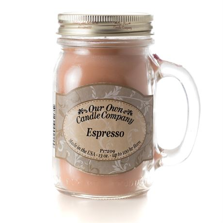 Espresso 2-Pack Scented Soy Blend 13oz Candles in Mason Jars