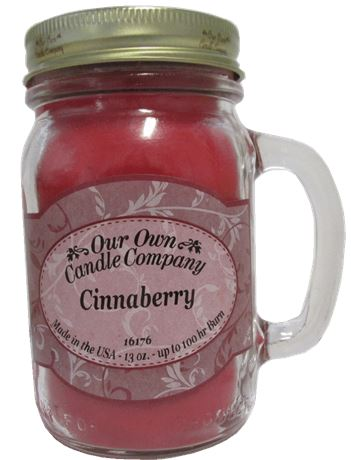 Cinnaberry 2-Pack Scented Soy Blend 13oz Candles in Mason Jars