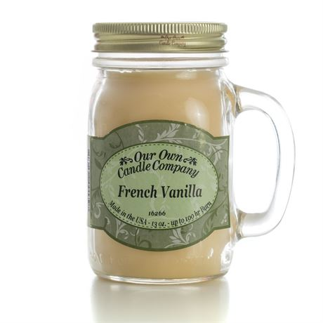 French Vanilla 2-Pack Scented Soy Blend 13oz Candles in Mason Jars