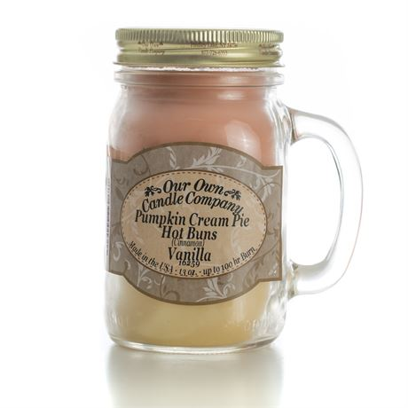 Fall Triple 2-Pack Scented Soy Blend 13oz Candles in Mason Jars