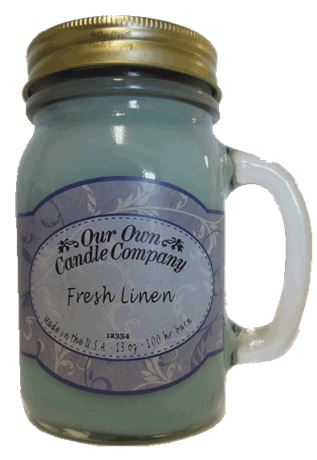 Fresh Linen 2-Pack Scented Soy Blend 13oz Candles in Mason Jars