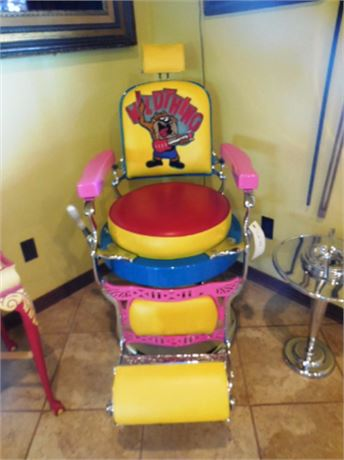 "Custom Made Koken Barber Shop Chair - ""Wild Thing Taz"""